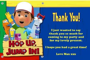 Personalised Handy MannyThank You Cards